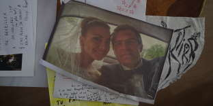 Lynn Adib etNicolas Zwierz, le jour de leur mariage, en 2012.
