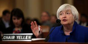 La présidente de la Réserve fédérale (Fed) américaine, Janet Yellen, le 29 novembre devant le comité économique du Congrès.