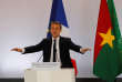 FILE PHOTO: French President Emmanuel Macron delivers a speech at Ouagadougou University, in Ouagadougou, Burkina Faso, November 28, 2017. Picture taken November 28, 2017. REUTERS/Philippe Wojazer/File Photo