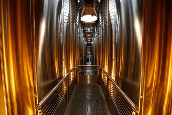 La cuverie du Centre vinicole - Champagne Nicolas Feuillatte, inauguré en mai et installé à Chouilly dans la Marne.