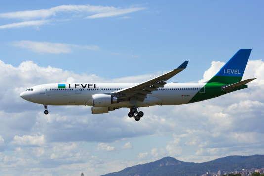 Un airbus A330 de la compagnie Level, en juin.