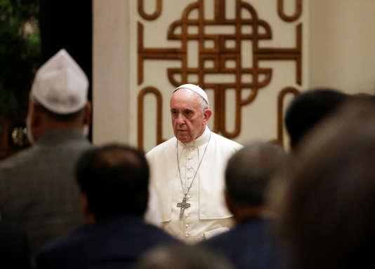 Le pape François, à Dacca, le 30 novembre.