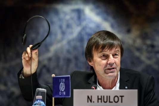 Nicolas Hulot, le 30 novembre à Genève.