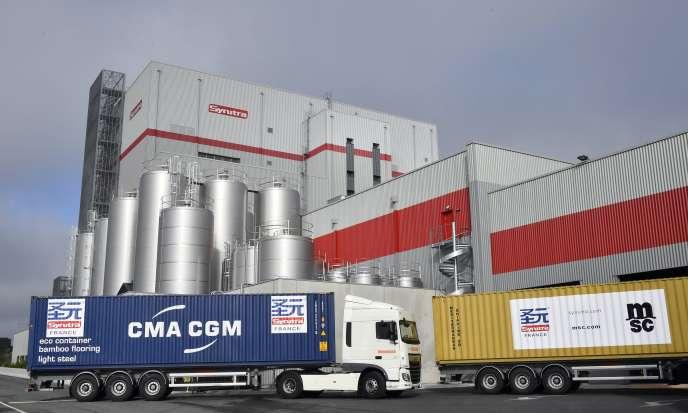 L'usine Synutra de Carhaix, dans le Finistère, inaugurée en septembre 2016.