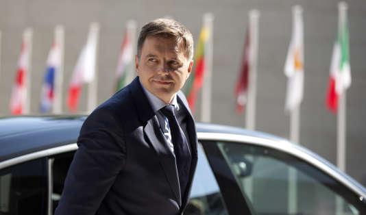 Le ministre des finances slovaque, Peter Kazimir, à Luxembourg, en 2015.
