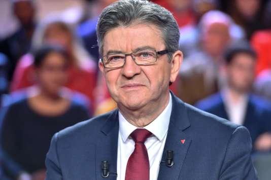 Jean-Luc Mélenchon, sur le plateau de« L'Emission politique» de France 2, jeudi30novembre 2017.