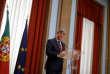 Le ministre des finances portugais, Mario Centeno, favori pour la présidence de l'Eurogroupe,le 30 novembre, à Lisbonne.