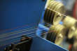 De la fibre optique destinée au très haut débit le 5 janvier 2012, à Romagny (Manche).