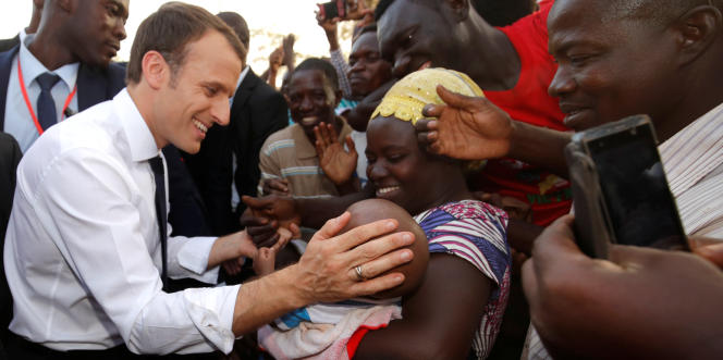 Le président français, Emmanuel Macron, à Ouagadougou, au Burkina Faso, le 28novembre 2017.