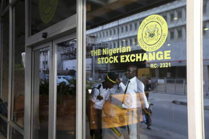 La Bourse de Lagos, capitale économique du Nigeria.