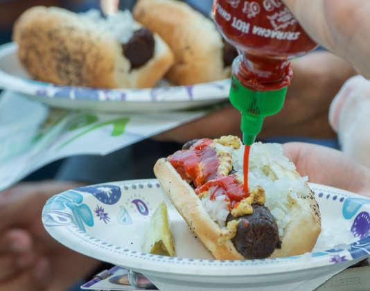 Des hot dogs végétariens.