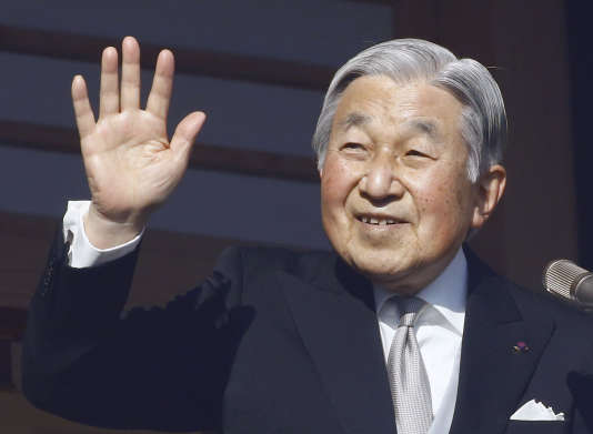 L'empereur du Japon, Akihito, au palais impérial de Tokyo en janvier 2017.