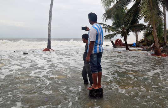 A Chellanam, dans le Kerala, le 2 décembre.