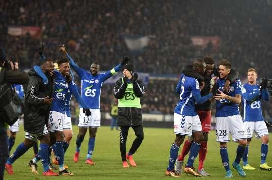 Les joueurs du Racing club de Strasbourg, le 2 décembre.