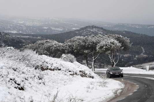 Sur la route reliant Marseille à Cassis, samedi 2 décembre.