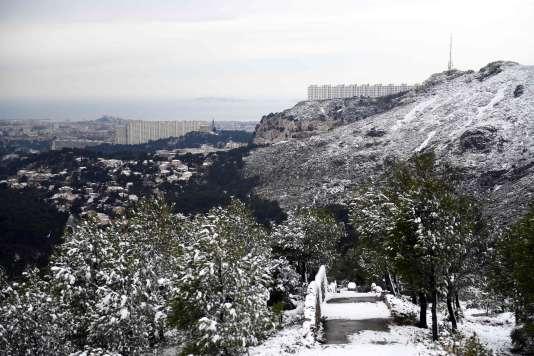 Marseille sous la neige.