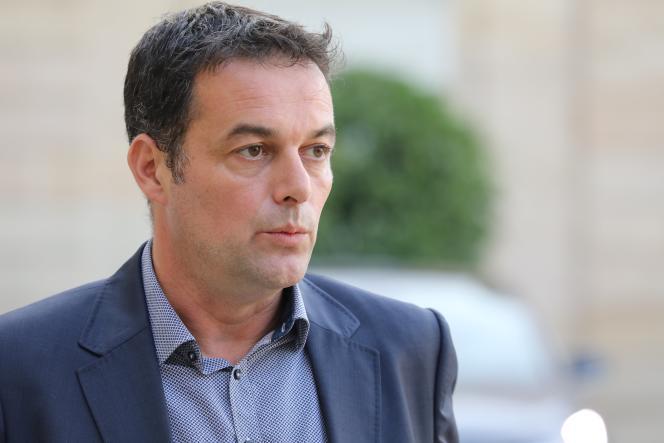 Christophe Robert, directeur général de la fondation Abbé Pierre, à la sortie d'une rencontre avec Emmanuel Macron en octobre 2017.