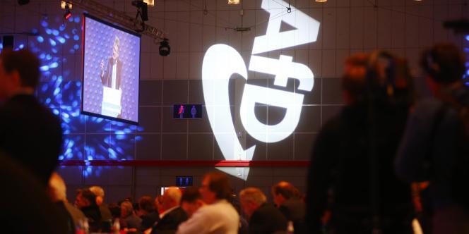 Congrès du parti d'extrême droite Alternative pour l'Allemagne (AfD) à Hanovre, le 2décembre 2017.