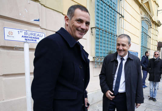 La tête de liste de Pè a Corsica, Gilles Simeoni, le 3 décembre à Bastia.