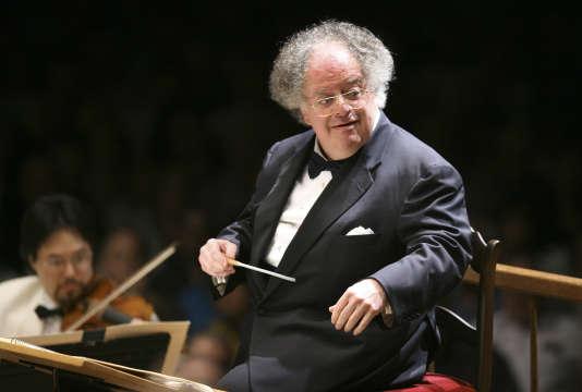 Le chef d'orchestre James Levine à Boston en 2006.