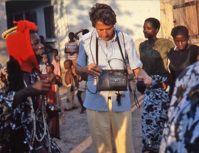 Charles Duvelle en voyage au Congo en 1966.