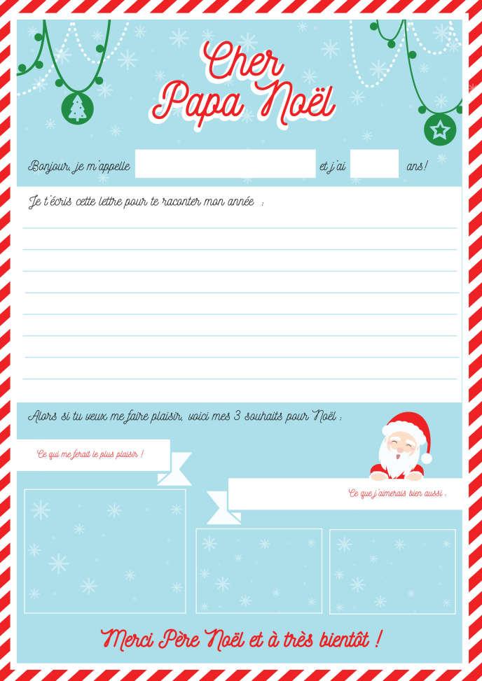 Une Lettre De Pere Noel.Comment Faire Sa Lettre Au Pere Noel