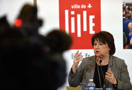 Martine Aubry, à Lille, le 3 mars.