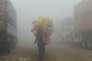 Brouillard de pollution, à Lahore, au Pakistan, le 9 novembre.