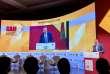 Le ministre marocain de l'industrie Moulay Hafid Elalamy lors du Forum sino-africain pour les investissements organisé à Marrakech les 28 et 29 novembre 2017.