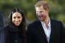Le prince Henry de Galles et sa fiancée Meghan Markle, à Nottingham, le 1er décembre.