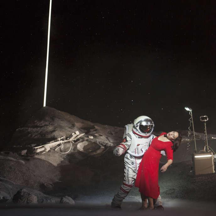 Sonya Yoncheva interprète le rôle de Mimi dans« La Bohème», de Puccini, mise en scène parClaus Guth à l'Opéra de Paris.