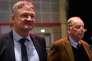 Les deux dirigeants du parti Alternative pour l'Allemagne (AfD), Jörg Meuthen et Alexander Gauland (à droite), dimanche 3 décembre, à Hanovre.
