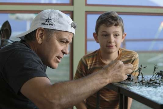 George Clooney etNoah Jupe sur le tournage du film« Bienvenue à Suburbicon».