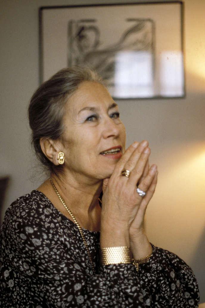 L'écrivaine Dominique Rolin (1913-2012), en 1980.