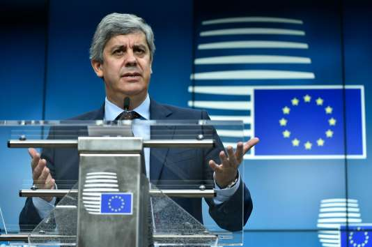 Mario Centeno le jour de son élection comme président de l'Eurogroupe, à Bruxelles, le 4 décembre.