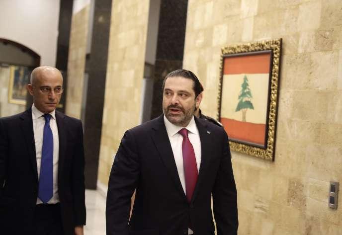 Saad Hariri, le 5 décembre au palais présidentiel du Liban, à Baabda.