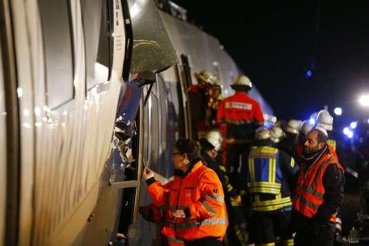 Le site de l'accident à Meerbusch, en Allemagne, le 5 décembre 2017.