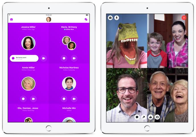 Messenger Kids permet aux enfants d'envoyer des messages par écrit ou d'échanger par vidéo.