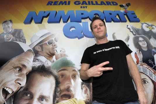 L'humoriste Rémi Gaillard lors de la promotion de son film«Rémi Gaillard est n'importe qui» à Montpellier en février 2014.