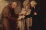 Une scène d'« Un voyage sentimental », œuvre d'Angelica Kauffman (1780).