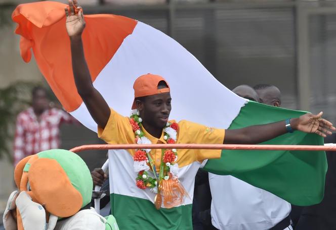 Cheick Cissé lors de son retour triomphal au pays, en août 2016.