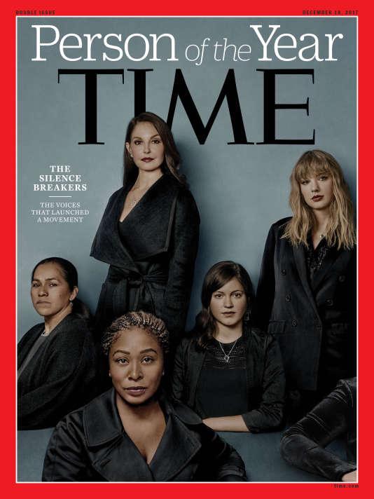La«une» du magazine « Time» et quelques-unes des femmes ayant choisi de briser le silence des violences sexuelles.