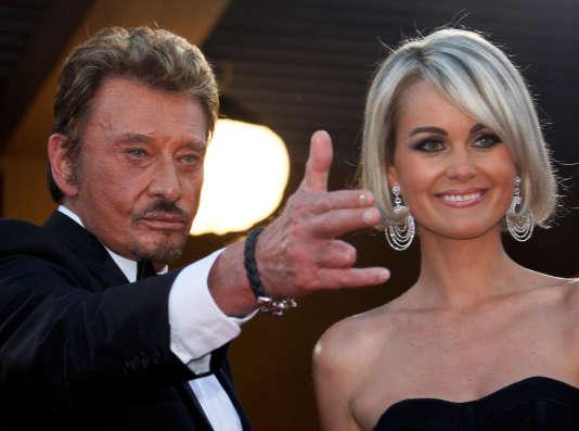 Johnny Hallyday et sa femme Læticia, lors de la projection du film «Vengeance», au Festival de Cannes, le 17mai 2009.