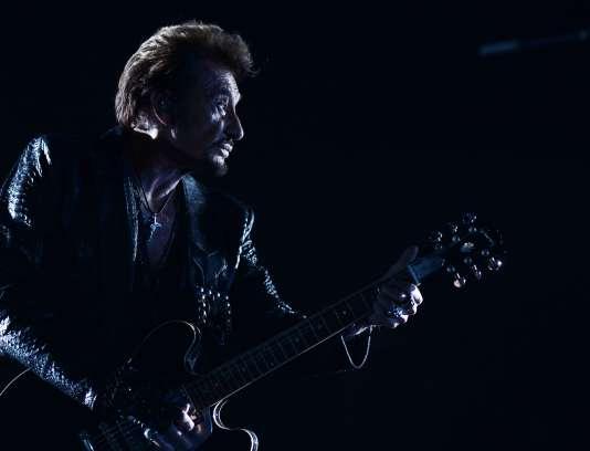 Johnny Hallyday en concert au Kremlin, à Moscou, en octobre 2012.