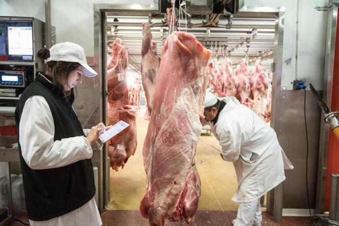 Marie Rivenez, patronne deGRG-Maison des viandes, le 4 décembre à Rungis.