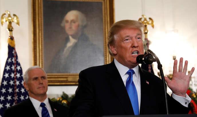 Donald Trump , le 6 décembre à la Maison Blanche.