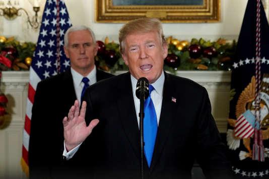 Donald Trump et Mike Pence à la Maison Blanche le 6 décembre 2017.