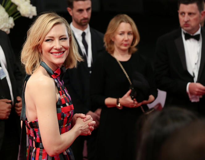 L'actrice Cate Blanchett au Festival international du film de Dubaï, en décembre 2017.
