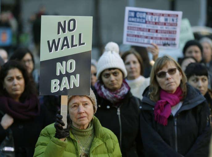 Manifestation contre l'ordonnance anti-immigration, le 6 décembre à Seattle.
