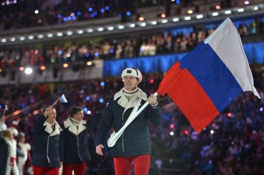 La délégation russe lors des JO d'hiver de Sotchi en2014.